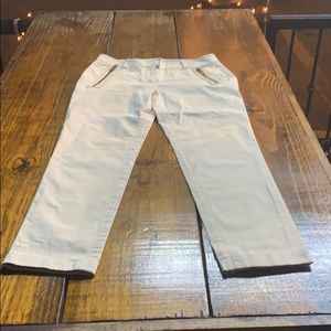 Burberry, caqui pants, size 6